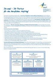 Übersicht Aufstiegsfortbildungen und Weiterqualifizierungen - eazf