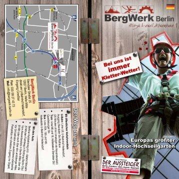 Der W eg zu uns - BergWerk Berlin