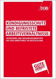 kündigungsschutz und befristete arbeitsverhältnisse - DGB ...