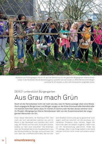 Artikel der DEW21 vom 21.08.2013 - Bürgergarten ... - Stadt Dortmund