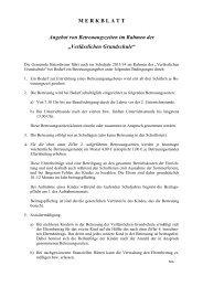Merkblatt zur Verlässlichen Grundschule - Gemeinde Baiersbronn