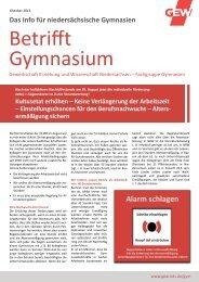 Betrifft Gymnasium vom Oktober 2013 - GEW Niedersachsen