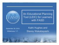 An educational planning tool (LEIC) for learners with FASD