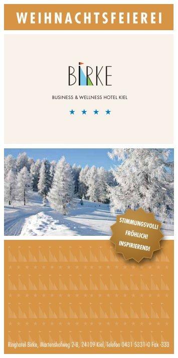 WEIHNACHTSFEIEREI - Hotel Birke Kiel