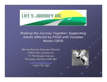 Supporting Adults Affected by FASD with Complex Needs ©2010