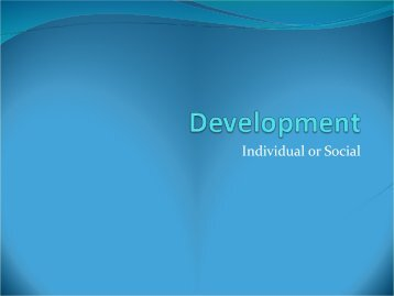 Development - Department of Humanities and Social Sciences