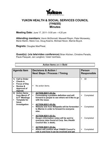 Minutes - 2011-06-17 (June 17) - Health and Social Services