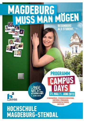 Programm als Download - Hochschule Magdeburg-Stendal