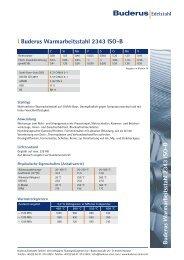 Buderus W armarbeitsstahl 2343 ISO-B l ... - Buderus Edelstahl Gmbh