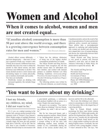 Women and Alcohol: A women's health resource [2326.26 KB ]