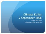 Climate Ethics - Department of Humanities and Social Sciences