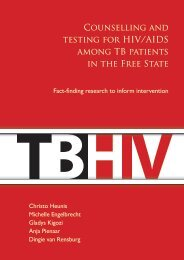 Counselling and testing for HIV/AIDS among TB patients in the Free ...