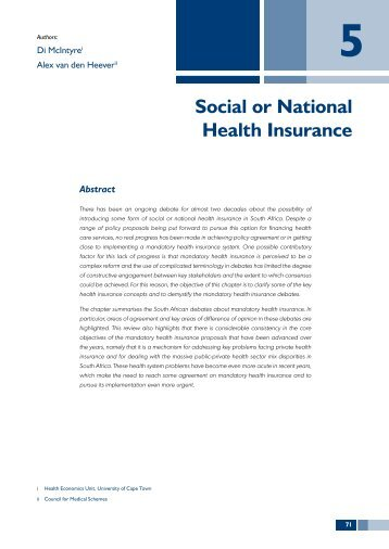 thesis on national health insurance Addressed if the aim of public health policy is to attract more patients with   this thesis seeks to explorethe factors that may influence patients.