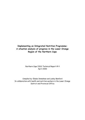 Implementing an Integrated Nutrition Programme - Health Systems ...