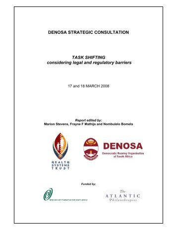 DENOSA STRATEGIC CONSULTATION TASK SHIFTING ...