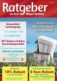 10% Rabatt 2 Euro Rabatt - mueggel-apotheke.de