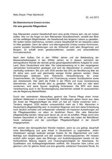 Die demografische Chance nutzen. - SPD