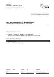 Erlaeuterungsbericht ohne Anhang Stand Entwurf vom 28 ... - Thun