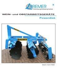 Wein-& Obstanbau - Bremer Maschinenbau