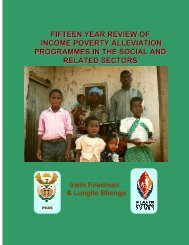 fifteen year review of income poverty alleviation programmes in the ...