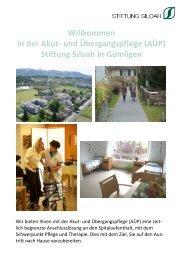 Flyer AÜP - Stiftung Siloah