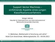 Support Vector Machines - Technische Universität Chemnitz