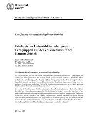 Erfolgreicher Unterricht in heterogenen ... - Bildungsdirektion