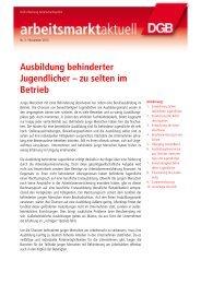 arbeitsmarkt aktuell 05/2013 - DGB