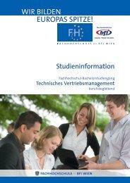 Studieninformation TVM (PDF, 487,33 kB) - Fachhochschule des bfi ...