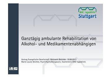 Ganztägig ambulante Rehabilitation von Alkohol- und ... - eva