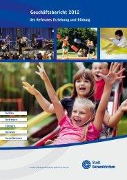 Geschäftsbericht 2012 - Stadt Gelsenkirchen, Referat Erziehung und ...