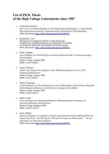 eth dissertationen online