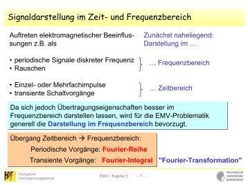 Signaldarstellung im Zeit- und Frequenzbereich - Fachgebiet ...