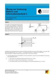 Übung 8 - Fachgebiet Hochspannungstechnik