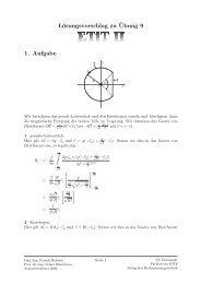 Lösungsvorschlag zu ¨Ubung 9 1. Aufgabe - Fachgebiet ...
