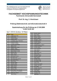 Fachgebiet Hochspannungstechnik - Technische Universität ...