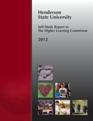 Self-Study Report - Henderson State University
