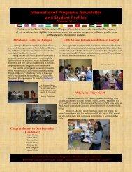December 2011 Newsletter - Henderson State University