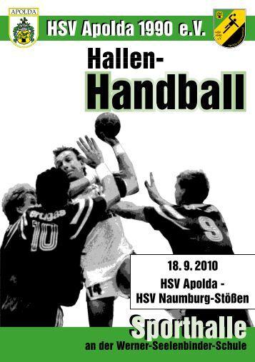 Hallenzeitung - HSV Apolda 1990 eV