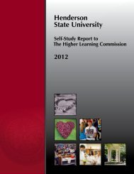 Henderson State University Self-Study for The Higher Learning ...
