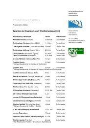 Termine der Duathlon- und Triathlonsaison 2012 - HSV Weimar ...