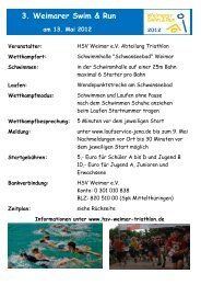 3. Weimarer Swim & Run - HSV Weimar Triathlon