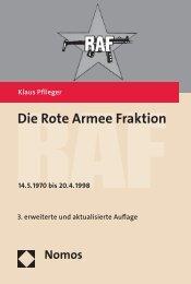 Die Rote Armee Fraktion – RAF - Nomos