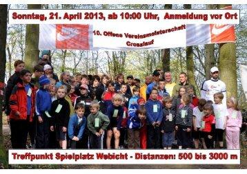 Flyer Crosslauf 2013 - HSV Weimar Triathlon