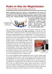Tagungsbericht Medientreff - Text: Dr. Matthias Kurp/Alle Fotos