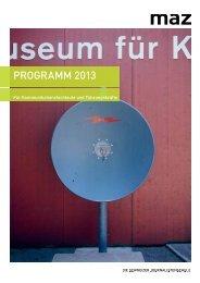 Programm 2013 für Kommunikationsprofis - MAZ