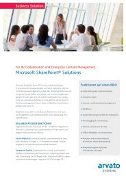 Microsoft SharePoint® Solutions - arvato Systems