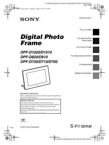 7 Digital Photo Frame With Touch Sensor Keys Electrohome