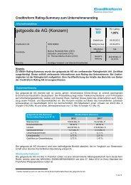 Creditreform Rating Summary: - Börse Stuttgart