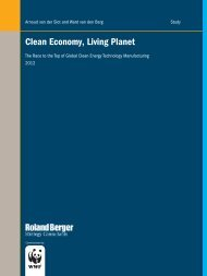 """Clean Economy, Living Planet"" report - Wereld Natuur Fonds"